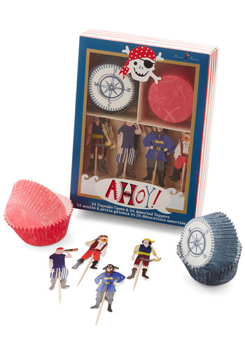 Arrr You Ready for Dessert? Cupcake Kit - Multi, Nautical, Good, Novelty Print, Handmade & DIY, Quirky, Hostess, Under $20, Food