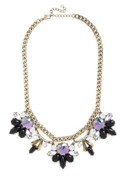 Every Now and Gem Necklace in Noir