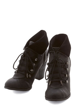 Barks and Recreation Bootie in Black