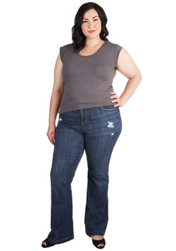 Photoshoot Op Jeans in Plus Size
