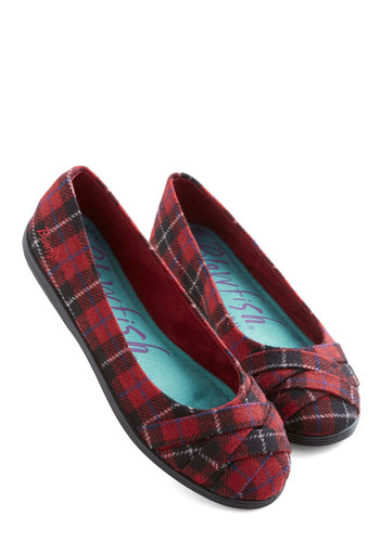 Skip in Your Step Flat in Plaid