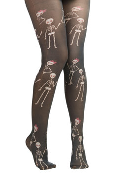 Skeletons of Love Tights