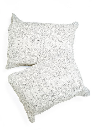 One in a Billion Pillow Sham Set - Cotton, Woven, White, Nifty Nerd, Cosmic, Better, Black, Novelty Print, Dorm Decor, Exclusives