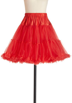 Va Va Voluminous Petticoat in Red - Short