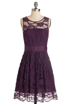 When the Night Comes Dress in Plum