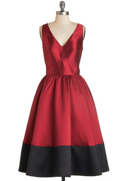 Picture Perfection Dress in Rouge