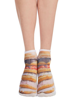 Quirk It Out Socks in Donuts
