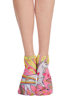Quirk It Out Socks in Unicorn