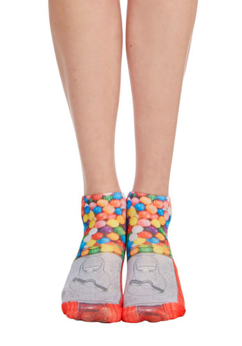 Quirk It Out Socks in Gumball - Darling, Food, Knit, Multi, Novelty Print, Casual, Variation