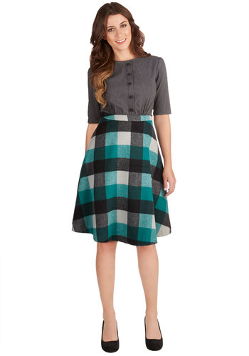 So Plaid You're Mine Skirt