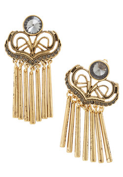 Phenomenal Fanfare Earrings in Gold