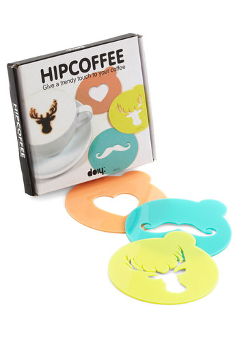 When in Foam Coffee Stencils - Multi, Quirky, Good, Hostess, Under $20, Guys
