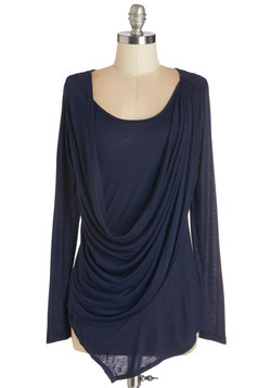 Draped in Delight Long-Sleeved Top in Dusk