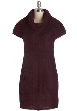 Knit Beyond Measure Dress in Burgundy