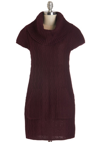 Knit Beyond Measure Dress in Burgundy