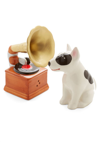 Look at This Phonograph Shaker Set by One Hundred 80 Degrees - Multi, Critters, Under $20, Dog, Music, Quirky