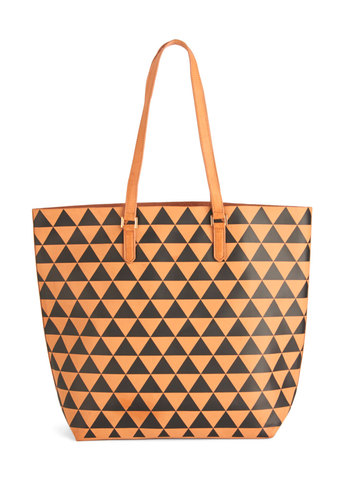The Body Geometric Tote - Brown, Black, Print, Work, Boho, Safari, Urban, Travel, Faux Leather