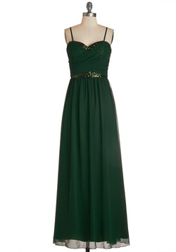 Receiving Line Dress in Emerald