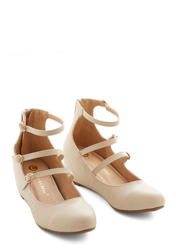 Triple the Cute Wedge - Mid, Solid, Wedding, Party, Daytime Party, Good, Wedge, Strappy, Cream