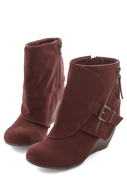 Follow the Fashionista Boot in Mahogany