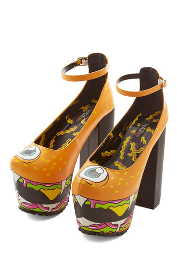 Flying Burger People Eater Heel