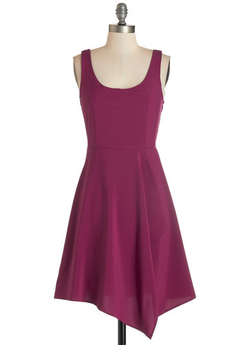 Just an Orchid at Heart Dress - Long, Woven, Pink, Solid, Party, Sleeveless, Scoop