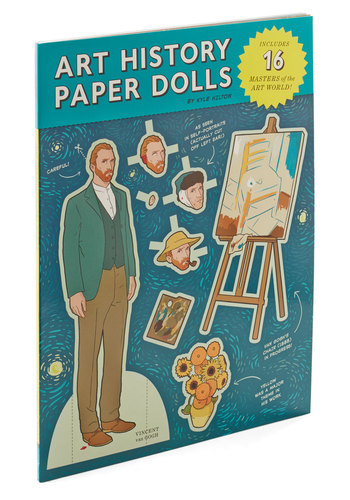 Young at Art Paper Doll Set by Chronicle Books - Multi, Novelty Print, Handmade & DIY