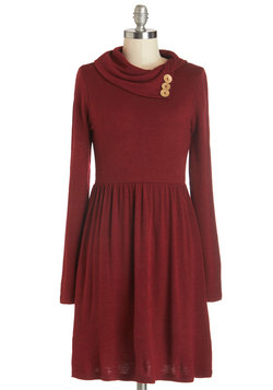 Curator de Force Dress in Ruby