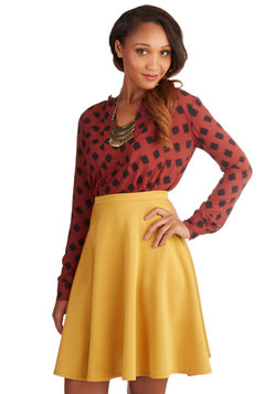 En Pointe Accompanist Skirt in Mustard