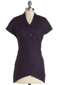 Stick Around Sweater in Purple