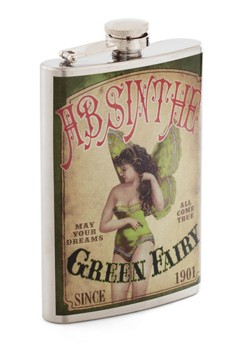 Sip Back and Listen Flask - Multi, Quirky, Steampunk, Good, Novelty Print