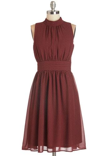Windy City Dress in Auburn Dots