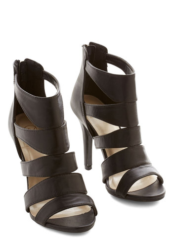 Pump Up the Party Heel - High, Faux Leather, Black, Solid, Party, Girls Night Out, Statement, Urban, Good