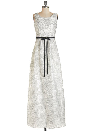 The Fête Thing Yet Dress - White, Black, Floral, Special Occasion, Wedding, Bride, Maxi, Sleeveless, Woven, Better, Scoop, Long, Homecoming