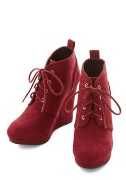 Live Local Artist Bootie in Burgundy