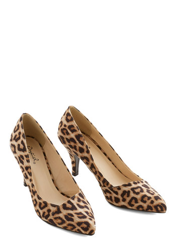 Enthrall in a Days Work Heel in Leopard $34.99 AT vintagedancer.com