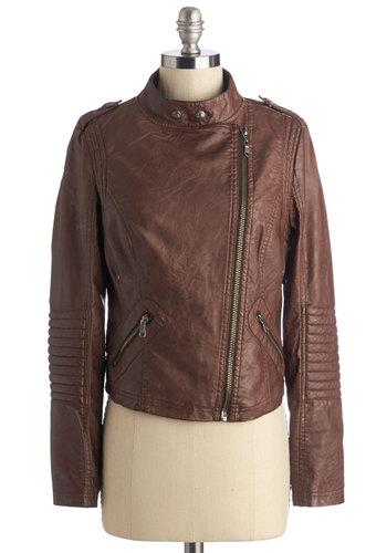 Auburn leather jacket