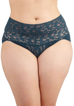 Hanky Panky Lacy and Lovely Undies in Navy - Plus Size