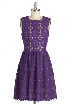 Outdoor Arpeggios Dress in Deep Purple