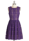Outdoor Arpeggios Dress in Deep Purple