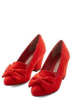Peppy Planner Heel in Orange