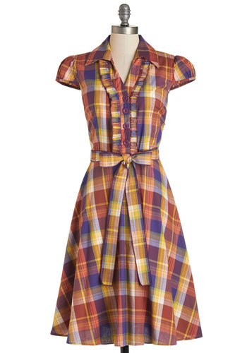 About the Artist Dress in Autumnal Plaid