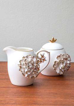 Gilded Up and Go Cream and Sugar Set