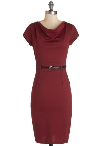 This Magic Memo-ment Dress in Crimson
