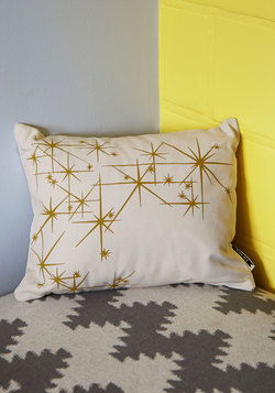Adorable Adornment Pillow in Starbursts