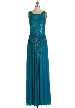 Glitz and Enamor Dress in Teal