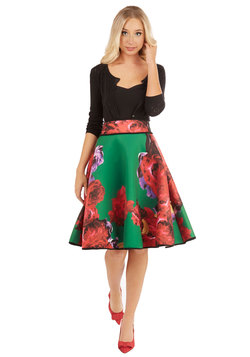 Boldness in Bloom Skirt