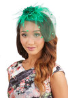 A Modern Fascinator in Emerald