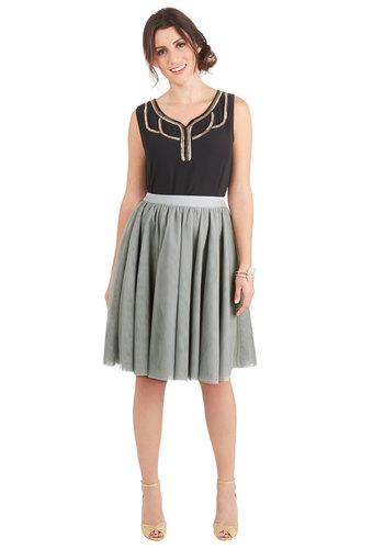 Turning in Tulle Skirt in Grey