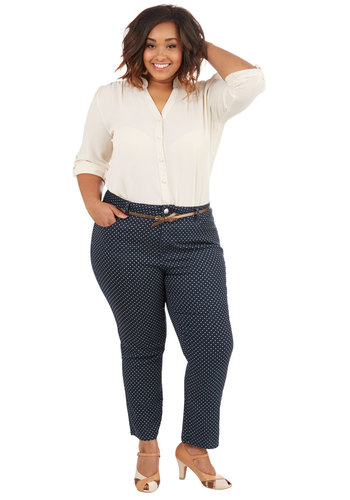 Dotted Delight Jeans in Plus Size